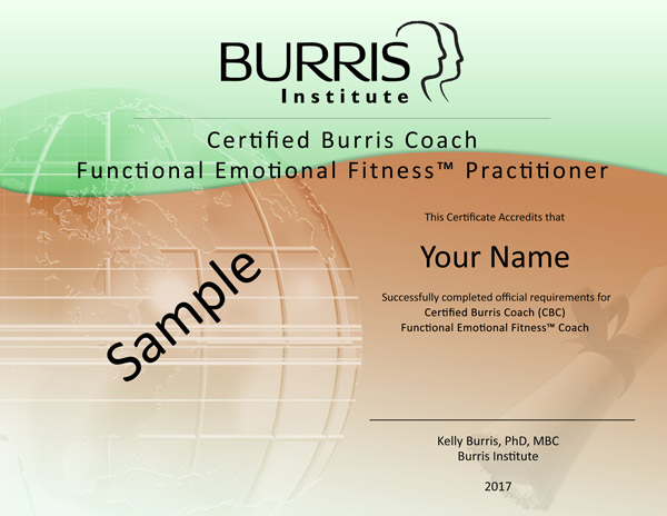 Sample Functional Emotional Fitness Certificate
